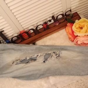 Torrid distressed skinny jeans.